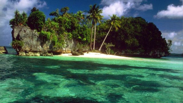 Re-exposure of Palau-Island-Scenery