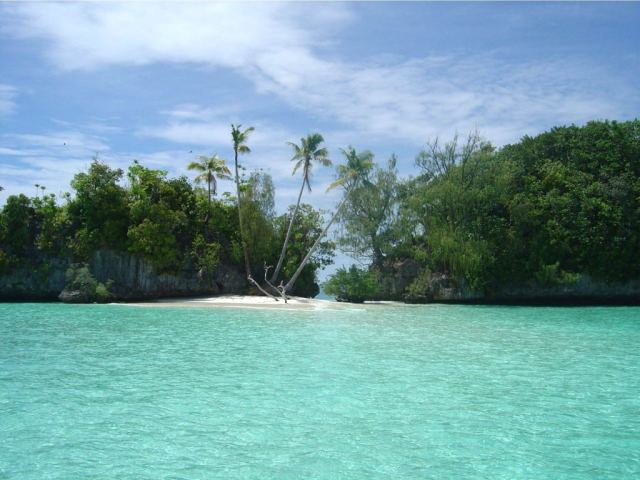 Re-exposure of Palau-Island